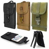 """Tactical Military Molle Cell Phone Pouch Case Belt Bag For Mobile Phone 5.5"""" US"""