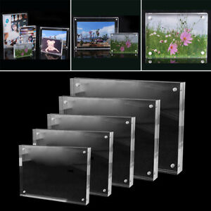 Acrylic Freestanding-Photo Block Frame Clear Acrylic Picture Photo Frame-Decor