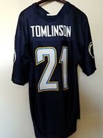 XL Mens NFL Team Apparel San Diego Chargers LaDainian Tomlinson #21 Blue Jersey