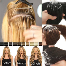 50S 16-26Inch Double Drawn Loop Micro Ring Bead Soft Remy Human Hair Extensions