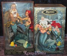 Disney Designer Fairytale Folktale Doll Collection Ariel & King Triton New!