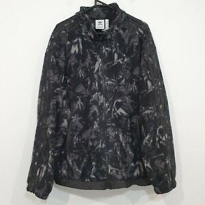 Adidas Originals Mens Fleece Full Zip Jacket Black Three Stripes