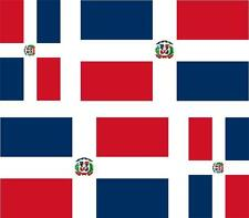 4x Adhesivo adesivi pegatina sticker bandera vinyl moto dominicana republica