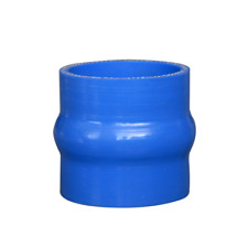 """CXRacing 2.5"""" Hump Silicon Hose Coupler Blue for Intercooler Pipe Turbo 3"""" Long"""