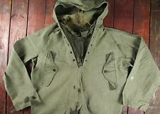 WWII WW2 US NAVY WET FOUL WEATHER PULLOVER DECK SMOCK PARKA JACKET 40s USN M