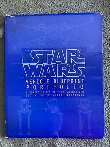 "1994 Star Wars Vehicle Blueprint Portfolio Set of 8 Blueprints 11""x14"""