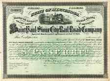 187_ St Paul & Sioux City RR Stock Certificate