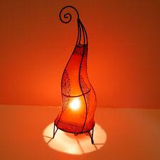 "Handmade Oriental Lampadaire Lampe Henné en Cuir "" Hissan H60 Rouge """