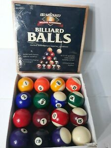 Vintage Harvard Sports Billiard Accessories Billiard Balls P0503 Man Cave IOB