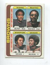 1978 Topps #506 Cleveland Browns Unmarked Team Checklist