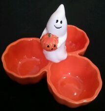 Ceramic GHOST PUMPKINS Halloween Candy Dish HAND PAINTED Target