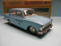 CCCP USSR NOVOEXPORT 1/43 MOSKVITCH 408 A1 BLUE MEDICAL CAR DIECAST MODEL V RARE