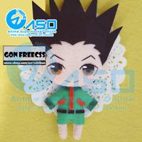 Anime HUNTER×HUNTER Gon Freecss Handmade Toy Keychain Bag Hanging Plush Doll