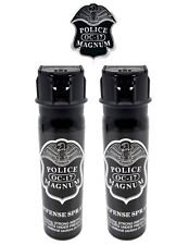 2 PACK Police Magnum pepper spray 4oz Flip Top Defense Personal Protection