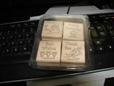 STAMPIN UP LOT OF 4 STAMPS THINKING OF YOU/HAPPY BIRTHDAY/BEST W