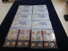 10 1998 US Mint Sets (100 mint coins in cello wrap) (bl7)