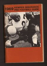 Kemper Insurance--1969 Pro Football Schedule Booklet