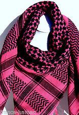 KEFFIEH palestinien FUSCHIA&NOIR 100% COTON 100x105  cheche, foulard,echarpe