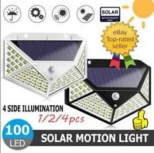 100LED Solar Lamps Power PIR Motion Sensor Wall Lights Outdoor-Garden Waterproof