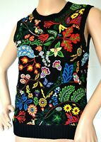 Valentino Metis Watersong Macrame Lace Embroidered Dress Top IT 40 42 / SMALL