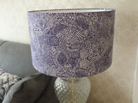 Liberty of London Heidi Maria Blue Fabric Lampshade - 30cm or 40cm - Handmade