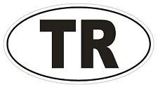 Tr Turkey Country Code Oval Bumper Sticker Or Helmet Sticker D1024