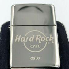 Hard Rock Cafe Zippo Lighter OSLO 🇳🇴 - polished Chrome - NEW