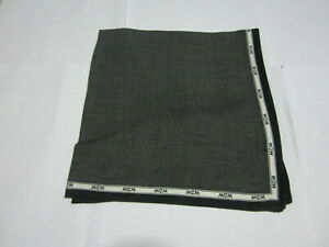 """USED  BLACK SOLID  PATTERN COTTON 18""""POCKET SQUARE HANDKERCHIEF HANKY FOR MEN"""