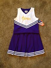 Size 14 Purple & Gold Cobras Logo Cheerleading Dress Up uniform Costume NWT !