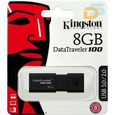 8GB KINGSTON PEN DRIVE 8 GB USB 3.0 PENNETTA FLASH DRIVE DATATRAVEL DT100G3/8GB