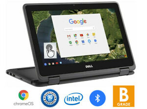 """Dell 11 Chromebook 3189 TouchScreen 2in1 Tablet 11.6"""" Intel 1.6GHZ 4GB RAM 16GB"""