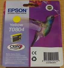 GENUINE EPSON T0804 TO804 jaune cartouche vide Seal Original Hummingbird encre