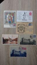 lot 6 x FDC PREMIER JOUR CARTES MAXIMUM Journee Timbre 1945 1946 1947 Epinal etc