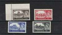 GB222) Great Britain 1955 Waterlow High Value Castles 2/6d - £1 SG 536 – 9