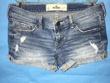 Hollister Women's Shorts Destroyed Rolled Up Frayed Edge Size 0 Ships Free