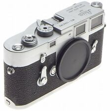M3 LEICA 35mm VINTAGE LEITZ FILM CAMERA RANGE FINDER BLACK BODY SINGLE STROKE