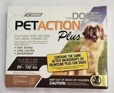 PetAction Plus Flea & Tick Treatment Dogs 89 - 132 lbs - 3 Doses