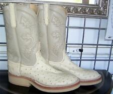 Anderson Bean Winter White Full Quill Ostrich Cowboy Boots 7.5 C Ladies 8.5 to 9