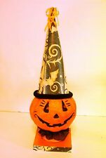 ORANGE PUMPKIN HALLOWEEN DESK OR TABLE DECORATION TRICK O TREAT FALL AUTUMN