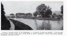CHOISY AU BAC L AISNE IMAGE 1924 OLD PRINT