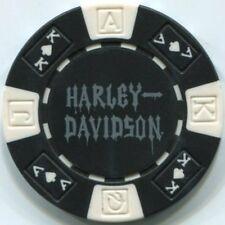 Black HARLEY DAVIDSON SKULL poker chip