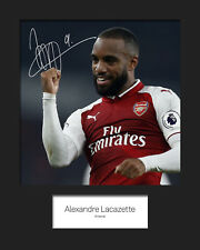 ALEXANDRE LACAZETTE #2 - ARSENAL Signed 10x8 Mounted Print - FREE DELIVERY