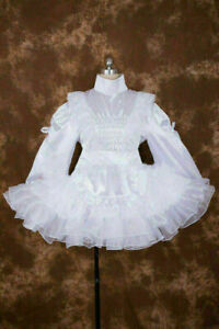Satin Organza Sissy Maid Dress Cosplay Dressers tailor-made@ Free shipping