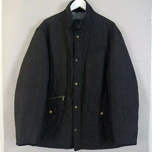 M&S Blue Harbour Quilted Parka Jacket XXL Mens Black Utility Outdoor