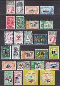 Sierra Leone 1961-64 QEII Selection Mint