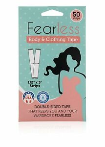 Fearless Tape - Womens Double Sided Tape for Clothing and Body, TransparentCLEAR