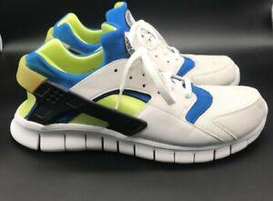 Nike 2011 Men's Size 13 Huarache Free Run Green 510801 101 with Apple Pedometer