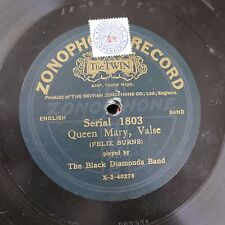 78rpm BLACK DIAMONDS BAND queen mary valse / king george march