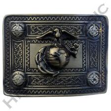 HM Escocés Kilt Hebilla de cinturón con acabado antiguo Us Marine Latón Hebilla de Highland
