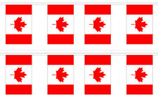 Canada Canadian 12x18 Bunting String Flag Banner (8 Flags)